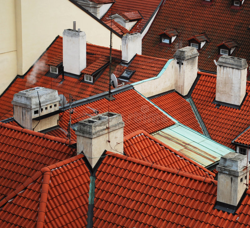 Dächer stockfotos