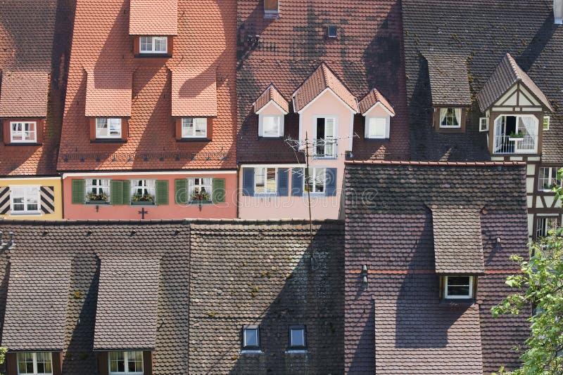 Dächer in Meersburg Deutschland stockbild