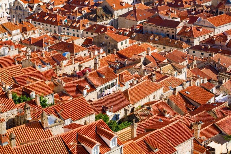 Dächer von Dubrovnik lizenzfreie stockbilder