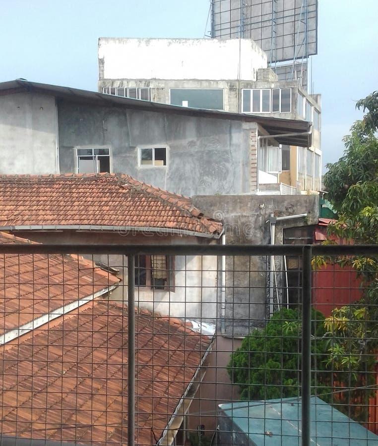 Dächer von Häusern lizenzfreie stockfotografie