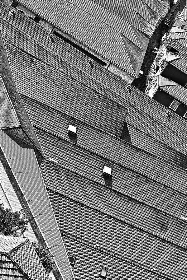 Dächer von Porto stockfoto
