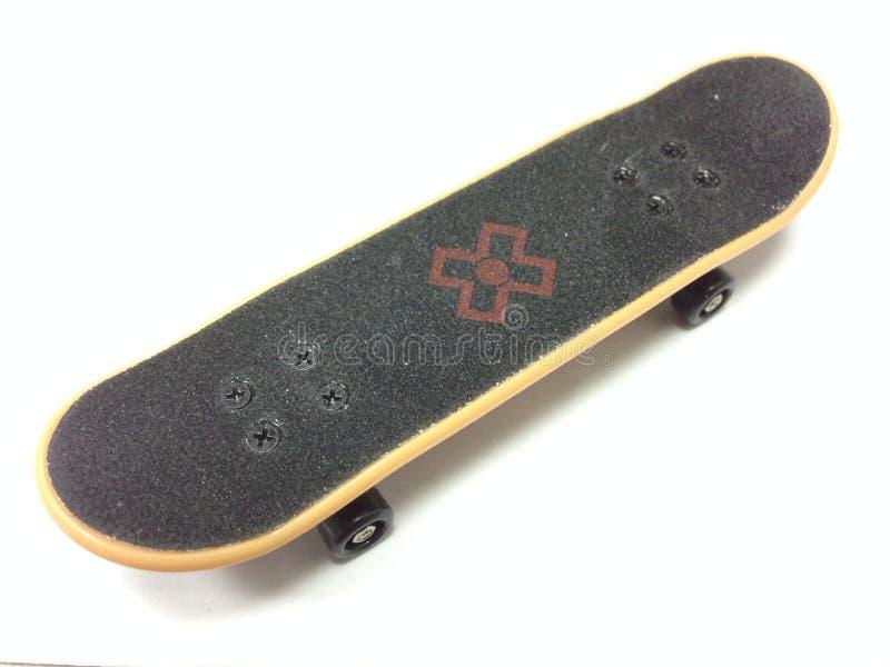 Däck för tech för fingerbrädeskateboard royaltyfri foto