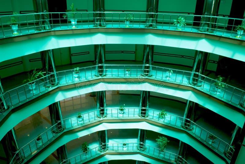 Däckar Av Affärskorridor Arkivbilder