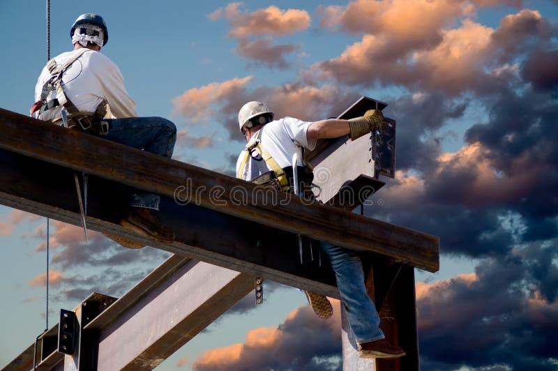 Dämmerung-Arbeitskräfte lizenzfreies stockfoto