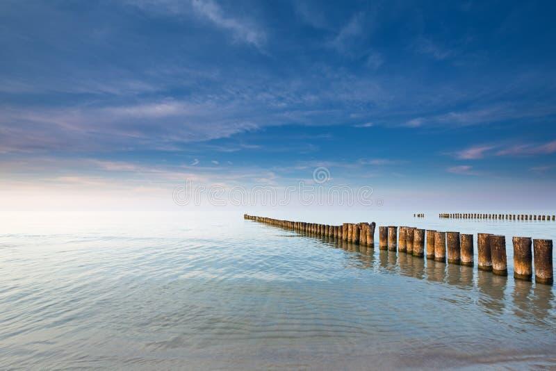 Dämmerung auf der Ostsee stockbilder