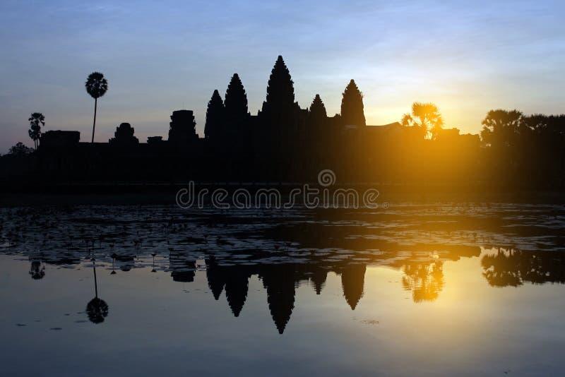 Dämmerung bei Angkor Wat stockfoto