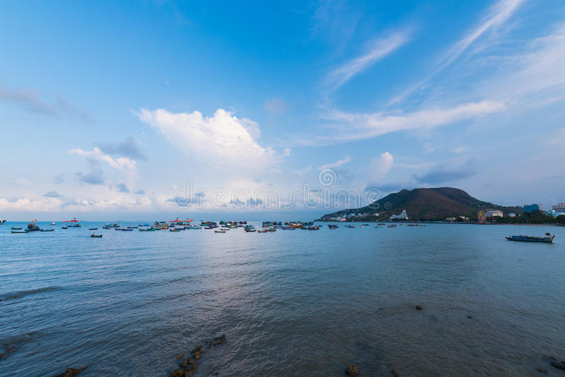 Dämmerung bei Vung Tau, Vietnam stockfotografie