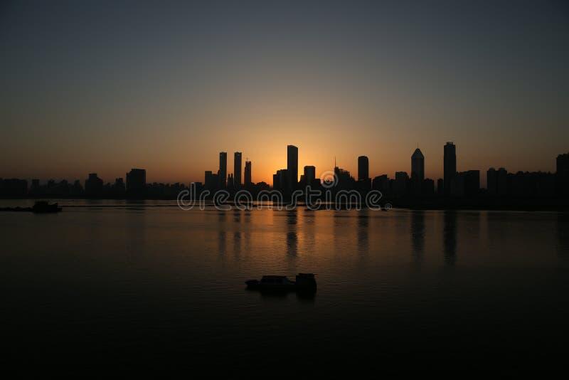 Dämmerung Chinas Nanchang lizenzfreies stockbild