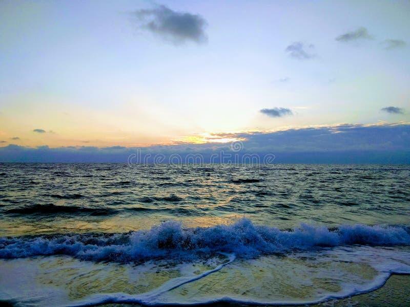 Dämmerung in dem Meer, Odessa lizenzfreie stockfotografie