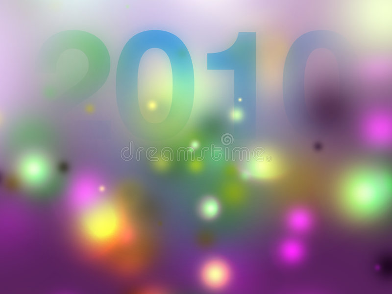 Dämmerung des Jahres 2010 vektor abbildung