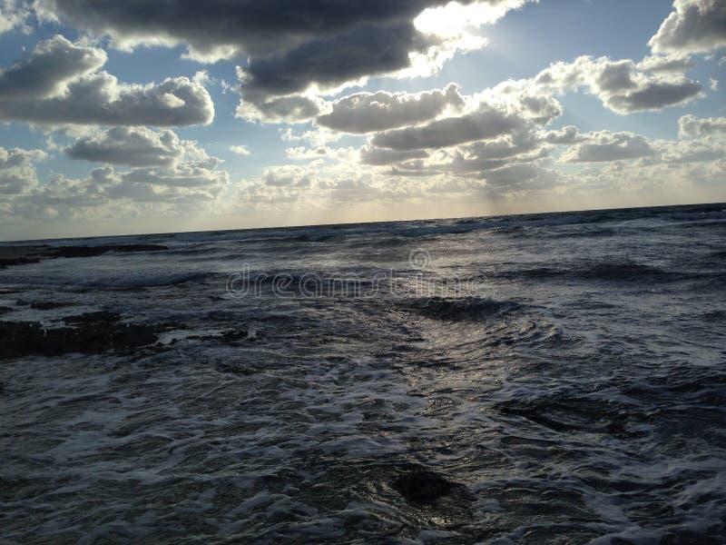 Dämmerung Seeozean Karibischer Meere lizenzfreie stockfotos