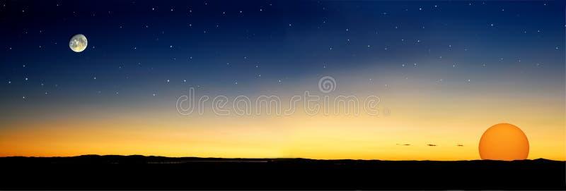 Dämmerung stars Sonne lizenzfreies stockfoto