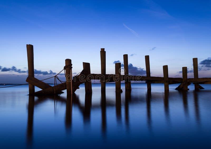 Dämmerungs-Piers stockbilder