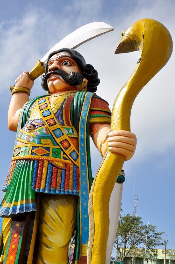 Dämon Mahishasura, Mysore, Indien lizenzfreies stockbild