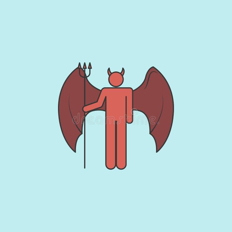 Dämonikone Element des Engels und der Dämonikone für bewegliche Konzept und Netz apps Gefüllte Entwurfsdämonikone kann für Netz b lizenzfreie abbildung