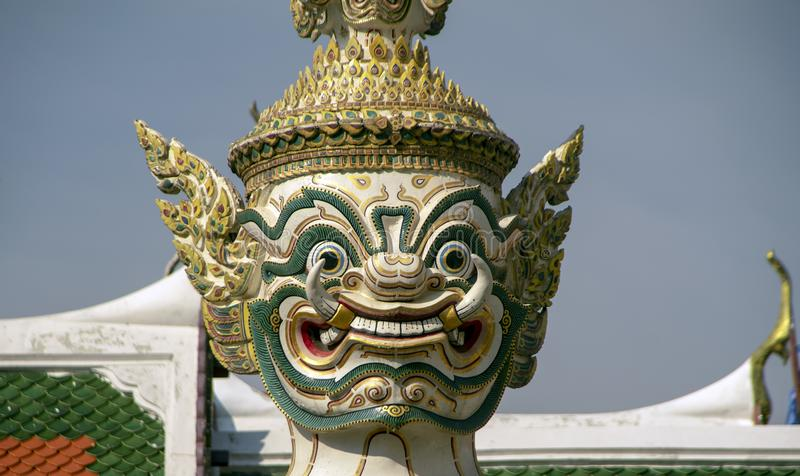 Dämonwächter am großartigen Palast, Bangkok, Thailand lizenzfreie stockfotografie