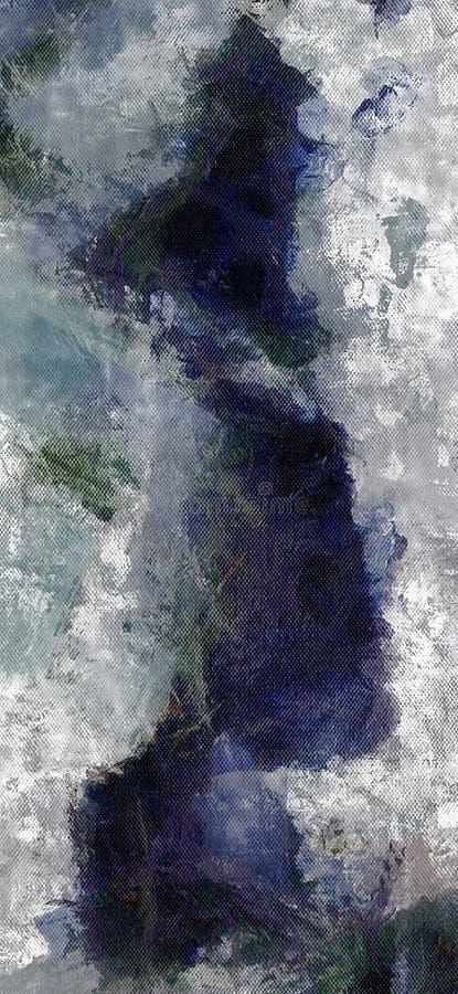 Dämpad abstrakt målning stock illustrationer