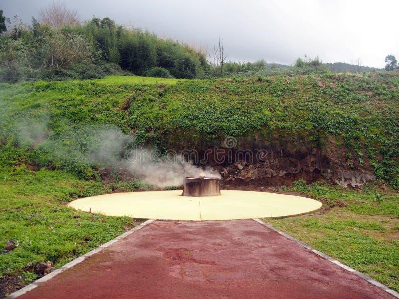 Dämpfendes Loch, Caldeiras, Azoren stockfotografie