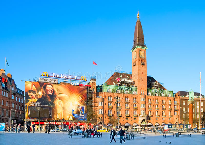 dänemark kopenhagen Scandic-Palast-Hotel lizenzfreie stockfotografie