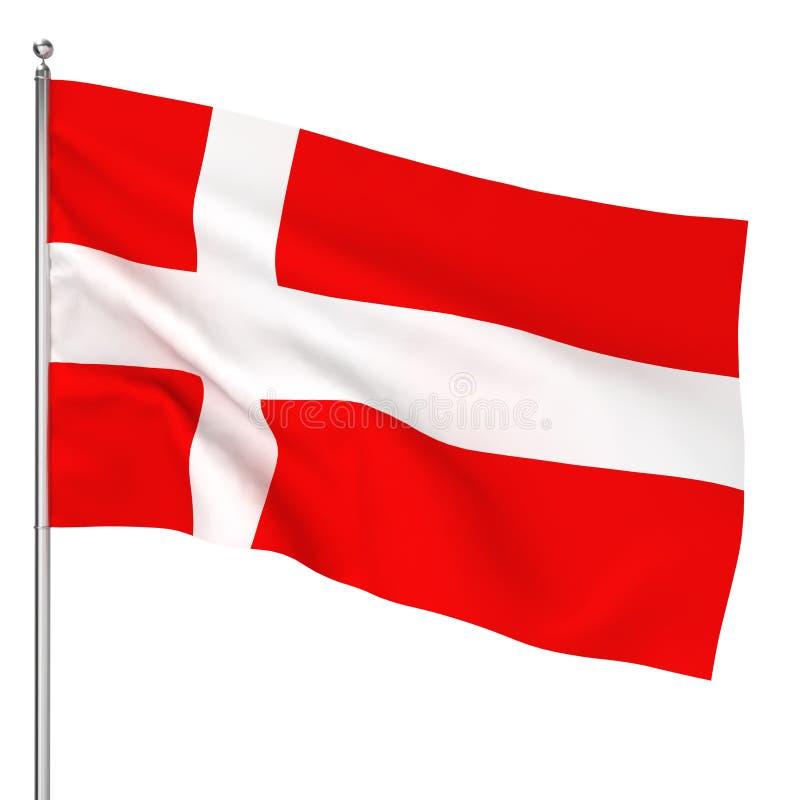 Dänische Flagge stock abbildung