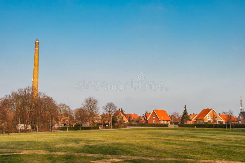 Dänische Stadt von Stege stockbilder