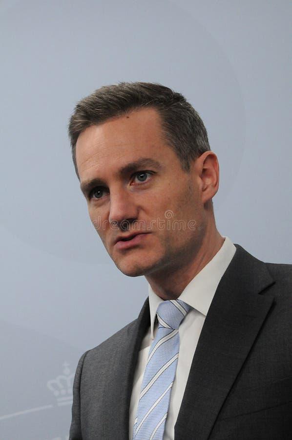 DÄNISCHER MINISTER RASMUS JARLOV FÜR HANDEL UND GESCHÄFT stockfoto