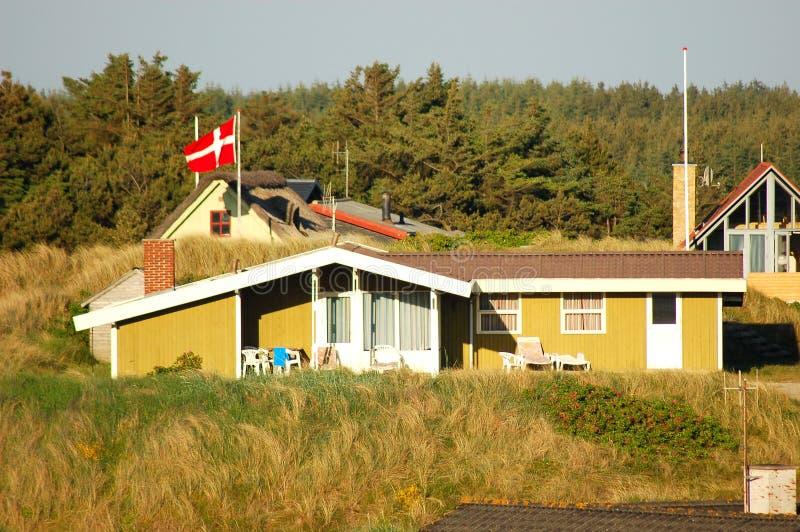 Dänisches Sommer-Haus lizenzfreie stockfotografie