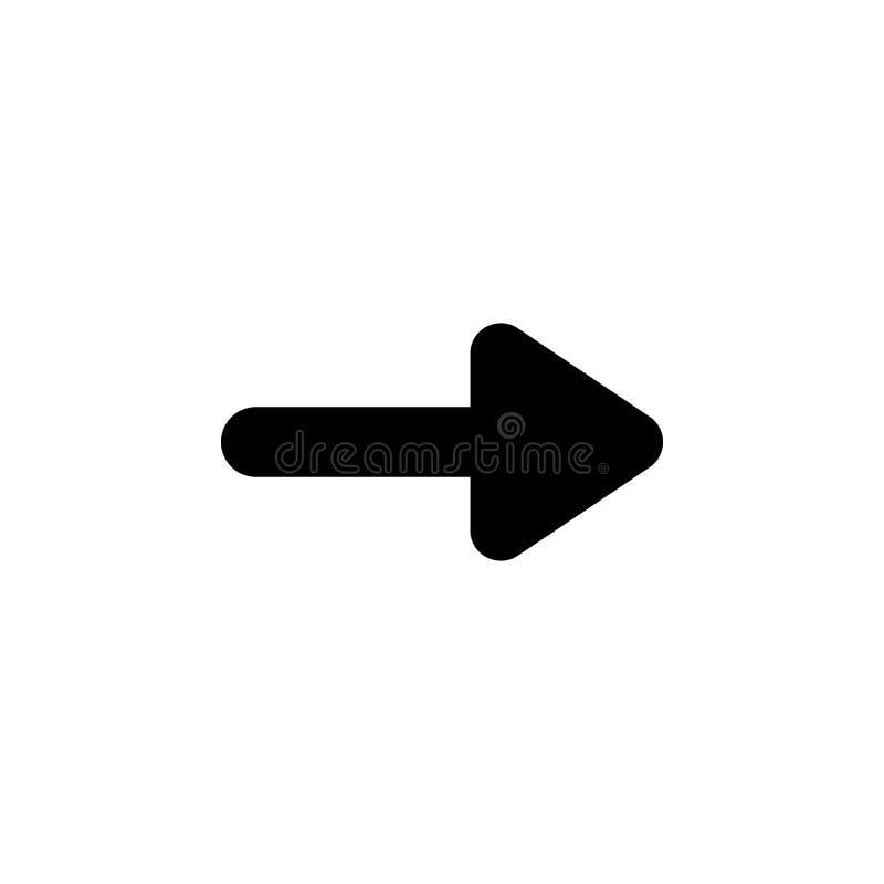 Därefter symbol för höger pil Tecknet och symboler kan användas för rengöringsduken, logoen, den mobila appen, UI, UX stock illustrationer