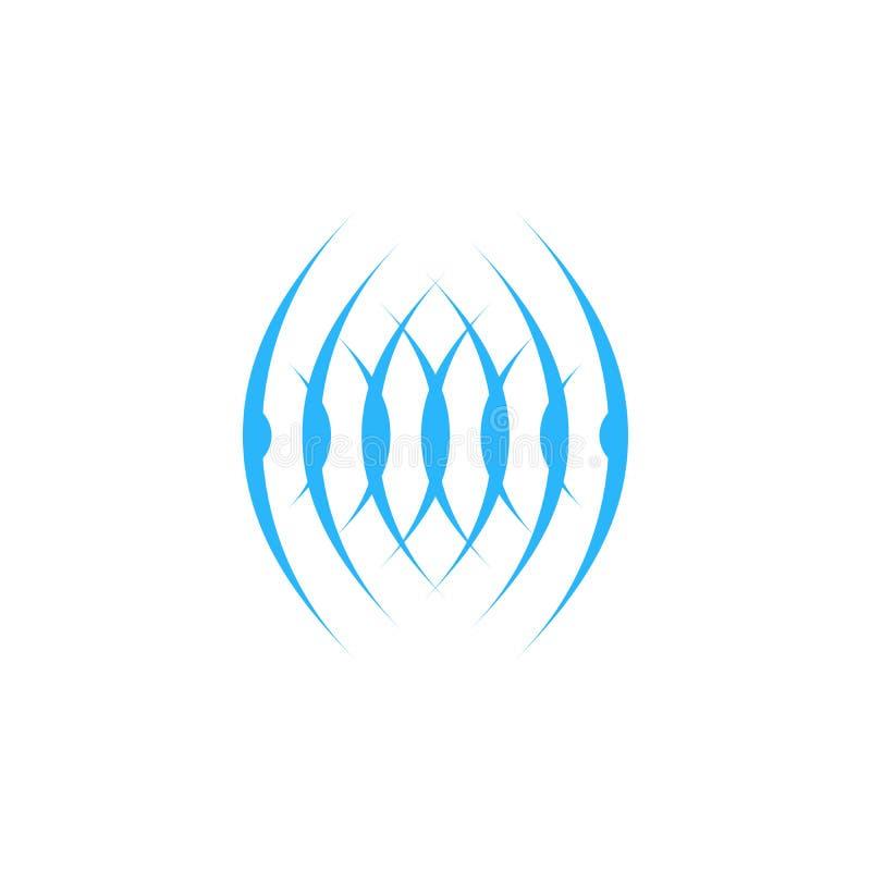Dźwięka lub komórki fali okręgu logo projekta wektoru abstrakcjonistyczny szablon Rozsądna symbolu logotypu pojęcia ikona Odizolo ilustracji