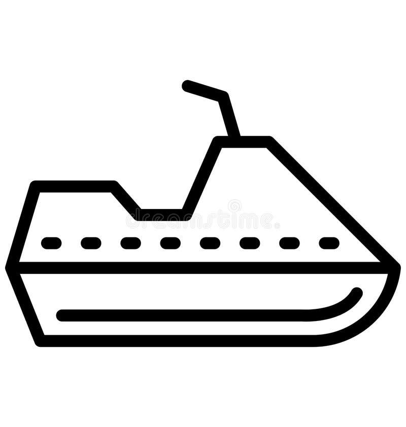 Dżetowy wodniactwo Wektorowa ikona która może łatwo redagować w jakaś kolorze lub modyfikująca royalty ilustracja
