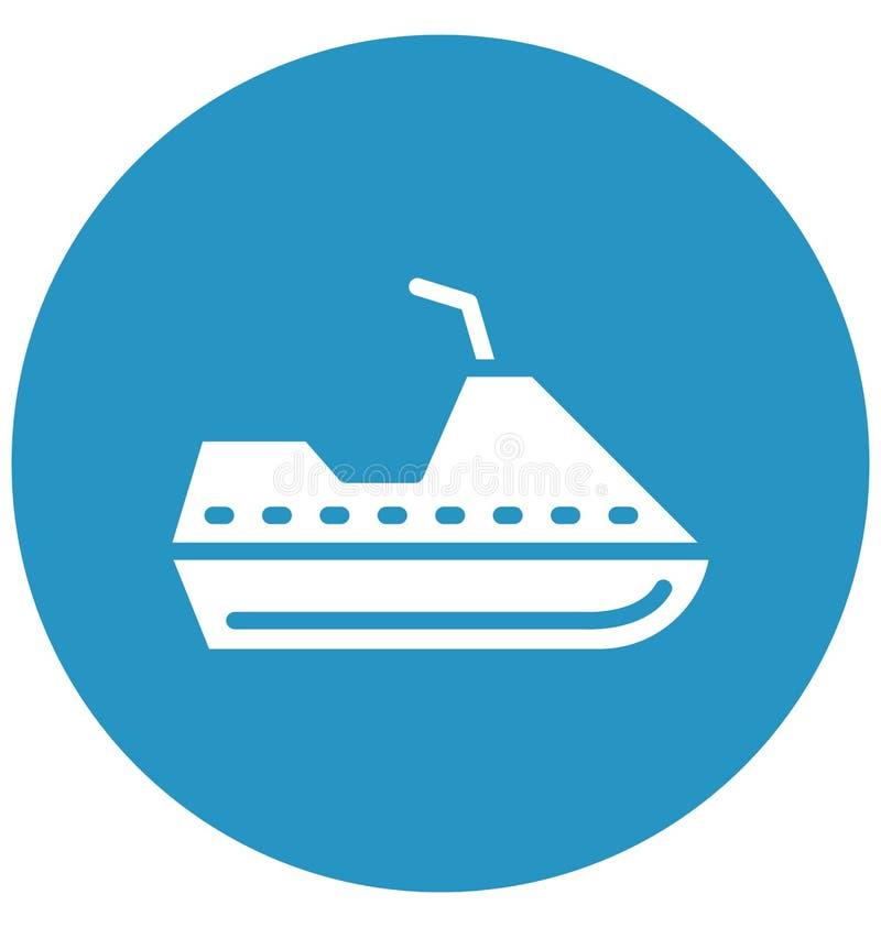 Dżetowy wodniactwo Wektorowa ikona która może łatwo redagować w jakaś kolorze lub modyfikująca ilustracja wektor
