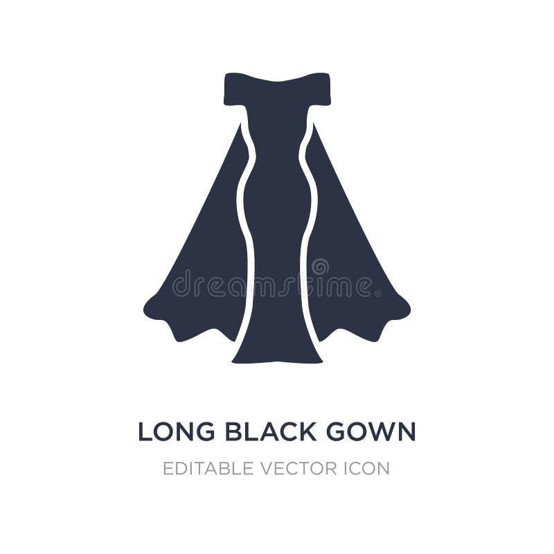 długa czarna togi ikona na białym tle Prosta element ilustracja od mody pojęcia royalty ilustracja