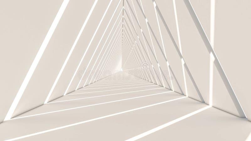 3d回报抽象三角形状 向量例证