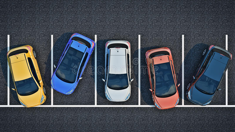 Dålig chaufför på parkering vektor illustrationer