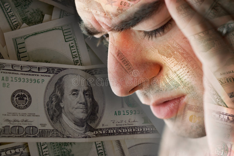 dålig ekonomi royaltyfria bilder