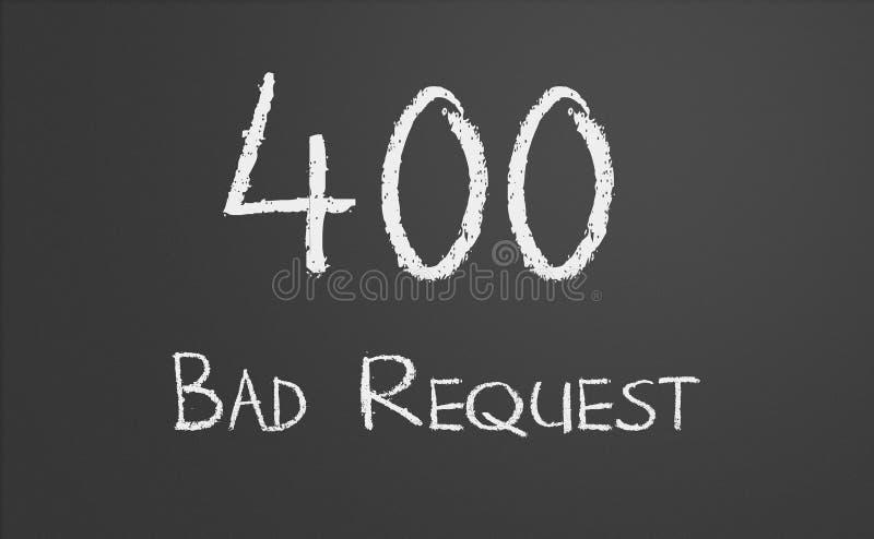 Dålig förfrågan för HTTP-statuskod 400 fotografering för bildbyråer