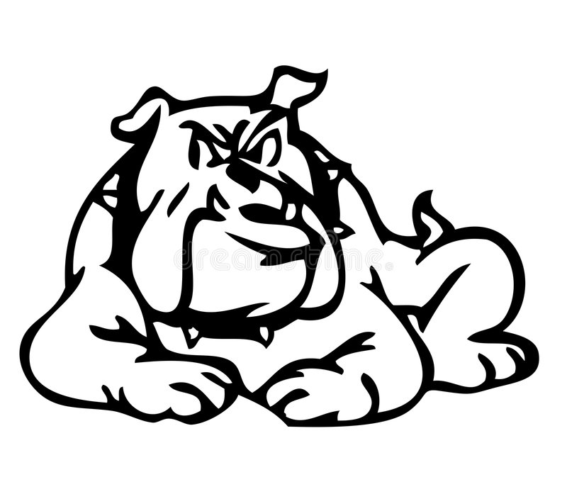 dålig hund stock illustrationer
