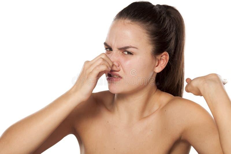Dålig lukt arkivbild