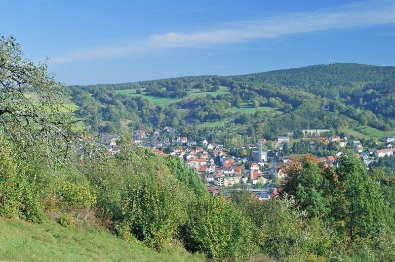 Dålig-Orb Spessart region, Tyskland royaltyfria foton