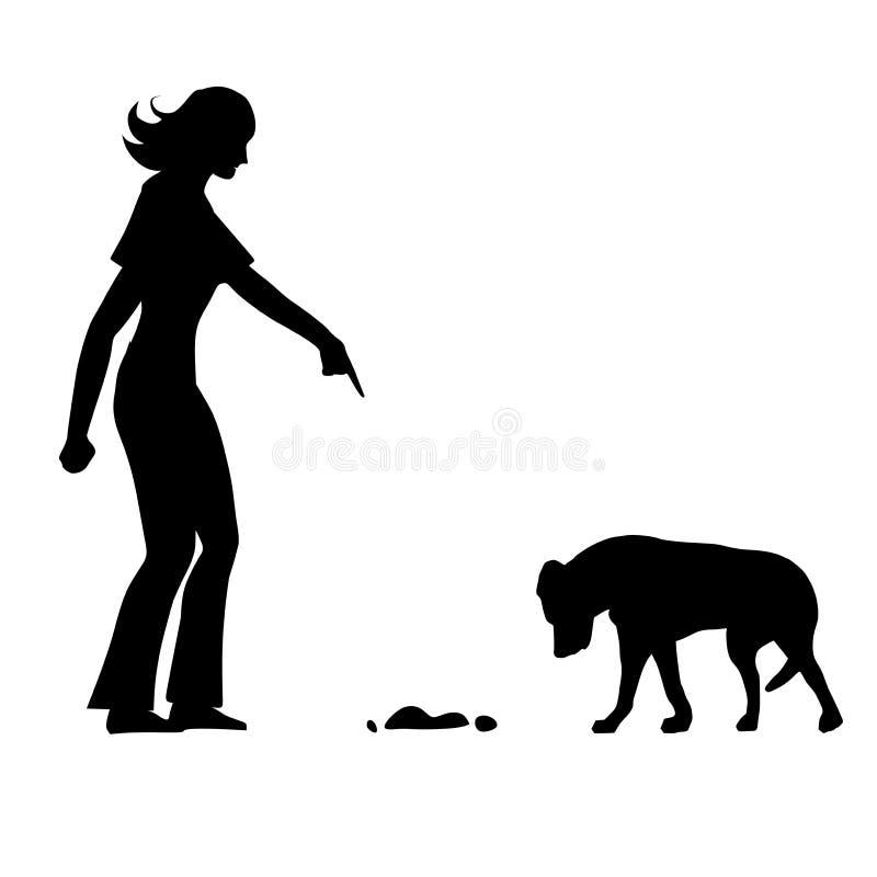 dålig utbildning för mess för hundhus stock illustrationer