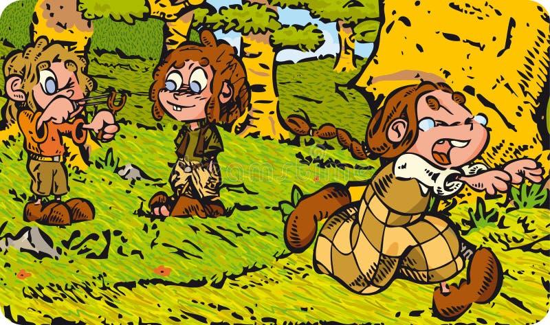 Dåliga barn royaltyfri illustrationer
