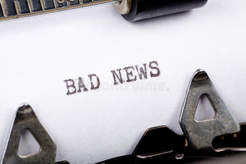 dåliga nyheter arkivbild