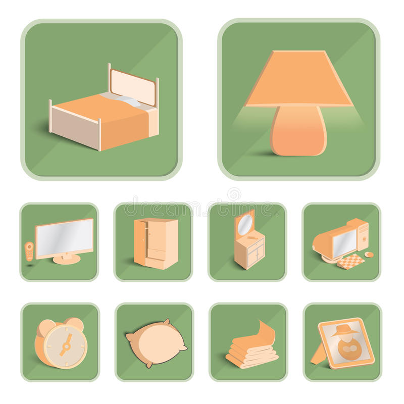 Dåliga rumsymboler ställde in, illustrationen eps 10 royaltyfri bild