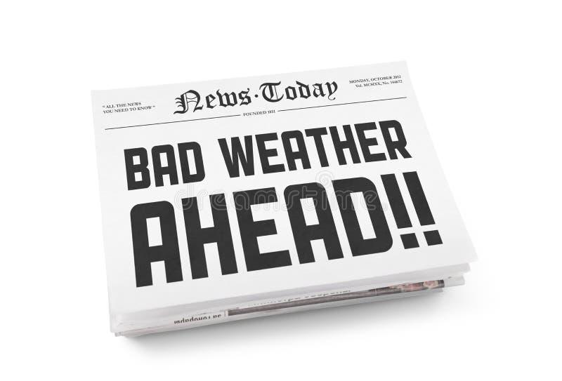 Dåligt väder framåt royaltyfri bild