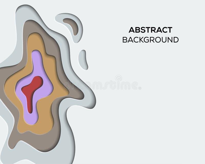 3D纸削减了抽象设计启发 库存例证