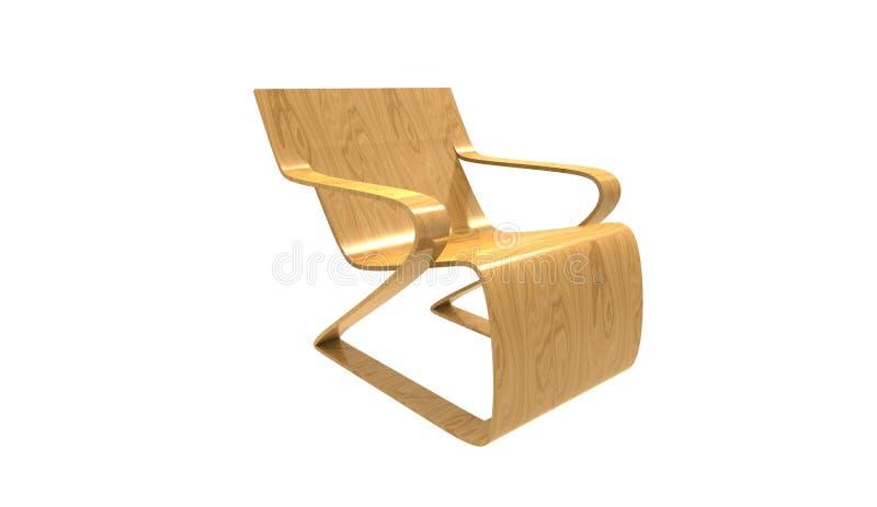 3d被隔绝的一把当代扶手椅子的例证 向量例证