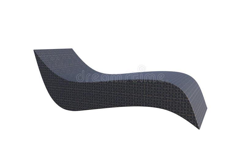 3D被隔绝的太阳晒黑的椅子的例证 皇族释放例证