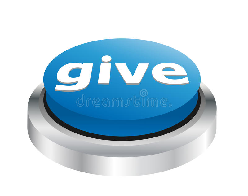 Dé - el botón de la caridad libre illustration