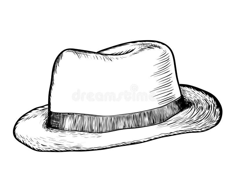 Dé El Dibujo Del Vaquero Hat - Vector El Ejemplo Exhausto ...