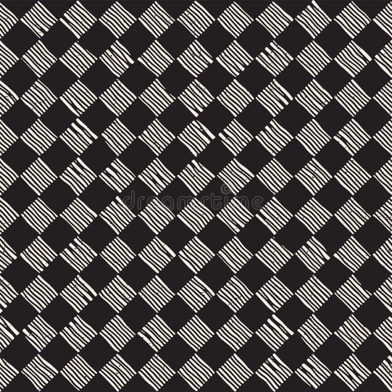 Dé el modelo de repetición inconsútil exhausto con las líneas el tejar del inspector Textura a pulso sucia del fondo fotografía de archivo